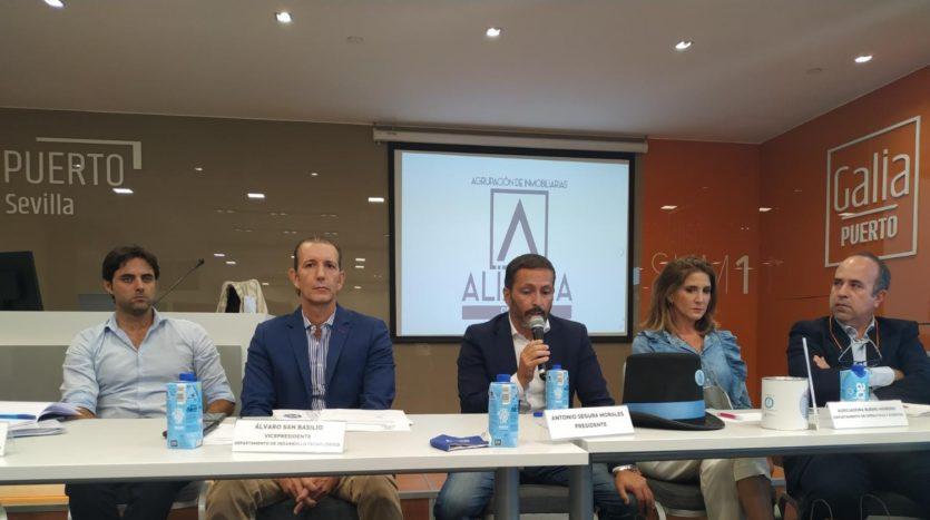 junta Alianza Sevilla con JM Alfaro